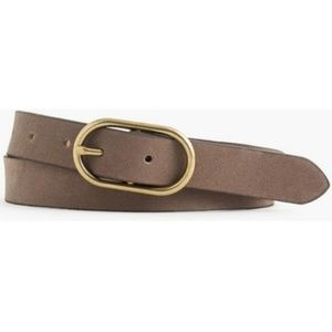 J. Crew Suede Belt in Zinc